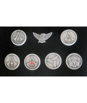 Assassin's Creed Iv: Black Flag - 7 Metal Piece Button / Pin / Badge Set