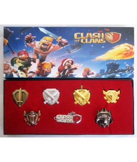 Cosplay Set of 7 Pieces Clash of Clans Grade Rank Badge Emblem