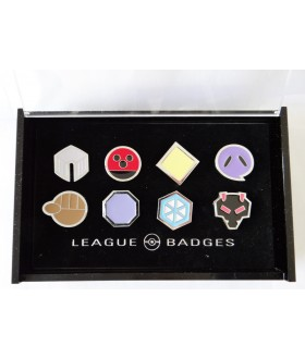 8 Pokemon Badges with Acrylic Collection Box: Johto League Gym Badges From Gen 2