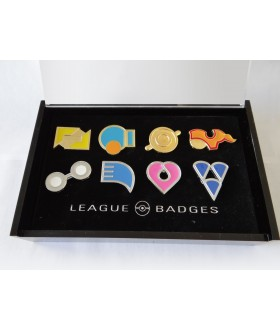 8 Pokemon Badges with Acrylic Collection Box: Hoenn Gym Badges From Gen 3