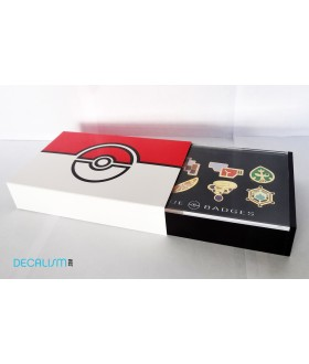 8 Pokemon Badges with Acrylic Collection Box: Kalos League Gym Badges From Gen 6
