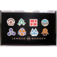 8 Pokemon Badges with Acrylic Collection Box: Sinnoh Gym Badges From Gen 4