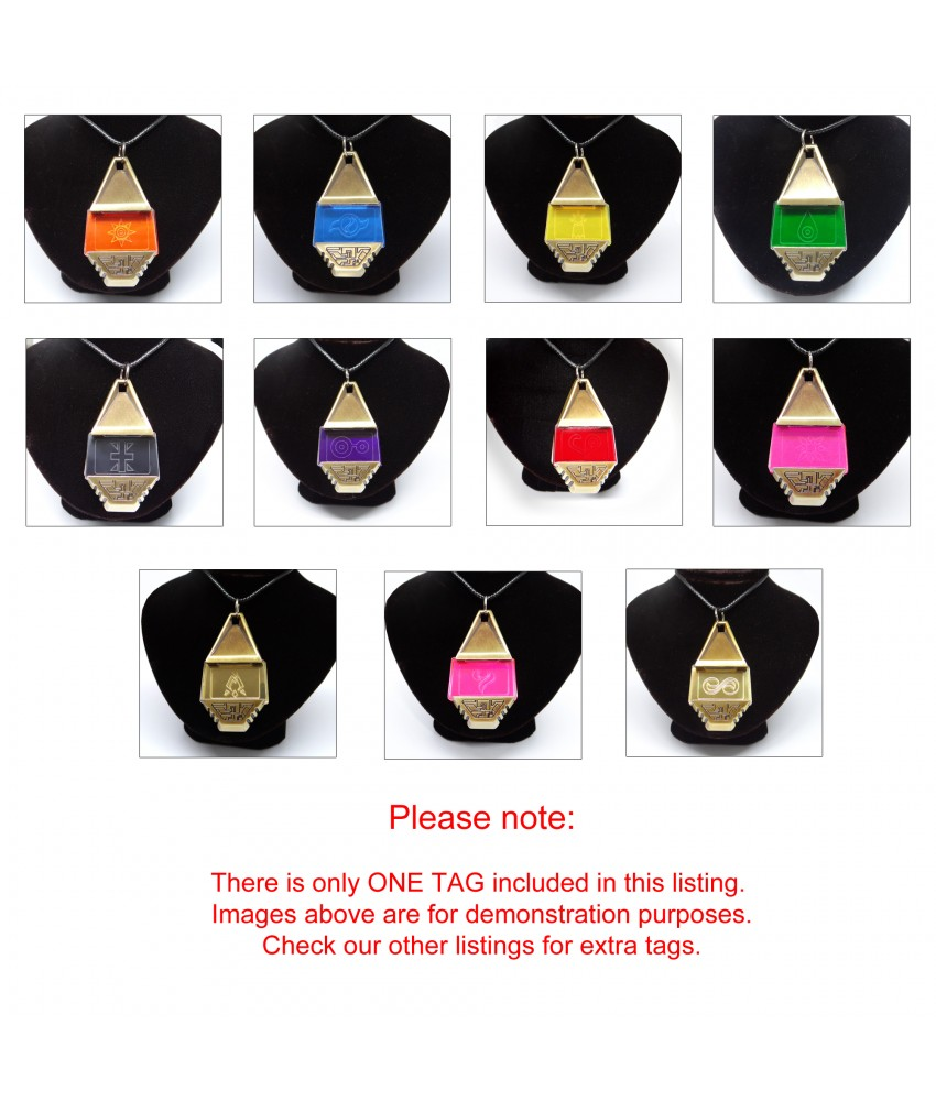 Completed Set Of 11 Digimon Crests With High Quality Metal Tag