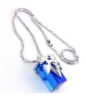 Sword Art Online Crystal Charm Necklace - Blue