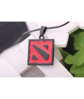 Defense of the Ancients Dota 2 Logo Necklace Pendant - Red / Black