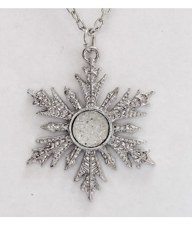 Frozen Snowflake Pendant Charm Necklace Anna Elsa Once Upon a Time