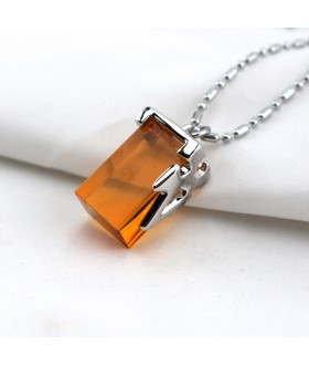 Sword Art Online Crystal Charm Necklace - Orange