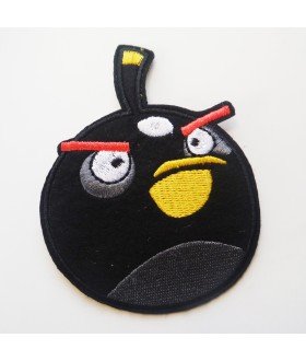 Angry Bird Bomb Black Bird Embroidered Iron On / Sew On Patch