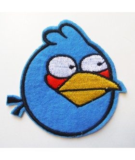 Angry Bird Blue Embroidered Iron On / Sew On Patch
