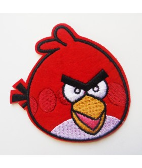 Angry Bird Red Embroidered Iron On / Sew On Patch