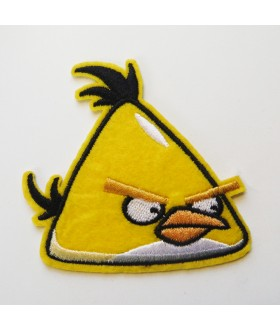 Angry Bird Chunk Yellow Bird Embroidered Iron On / Sew On Patch