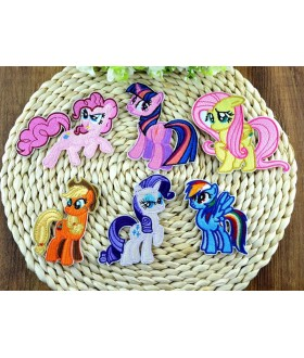 Set of 6 My Little Pony Friendship Is Magic Embroidered Iron On / Sew On Patches