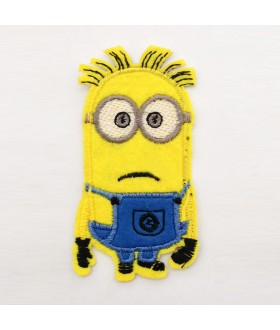 Despicable Me Movie mad MINION Embroidered Iron On / Sew On Patch