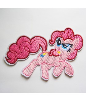 My Little Pony Friendship Is Magic - Pinkie Pie Embroidered Iron On / Sew On Patch