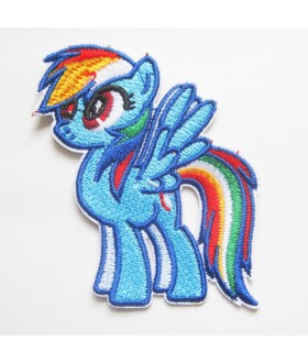 My Little Pony Friendship Is Magic - Rainbow Dash Embroidered Iron On / Sew On Patch