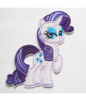 My Little Pony Friendship Is Magic - Rarity Embroidered Iron On / Sew On Patch