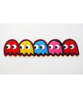 Pac-man Embroidered Iron On / Sew On Patch