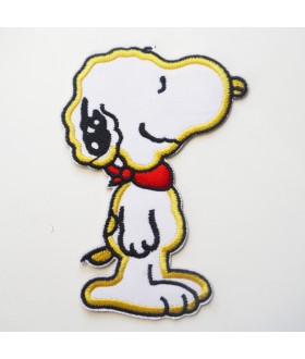 Snoopy with red scarf Embroidered Iron On / Sew On Patch