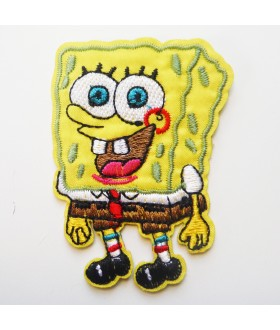 Spongebob Square Pants Nickelodeon Embroidered Iron On / Sew On Patch