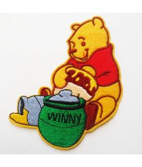 Winnie the Pooh Embroidered Iron On / Sew On Patch - 3