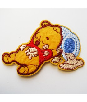 Winnie the Pooh Embroidered Iron On / Sew On Patch - 5