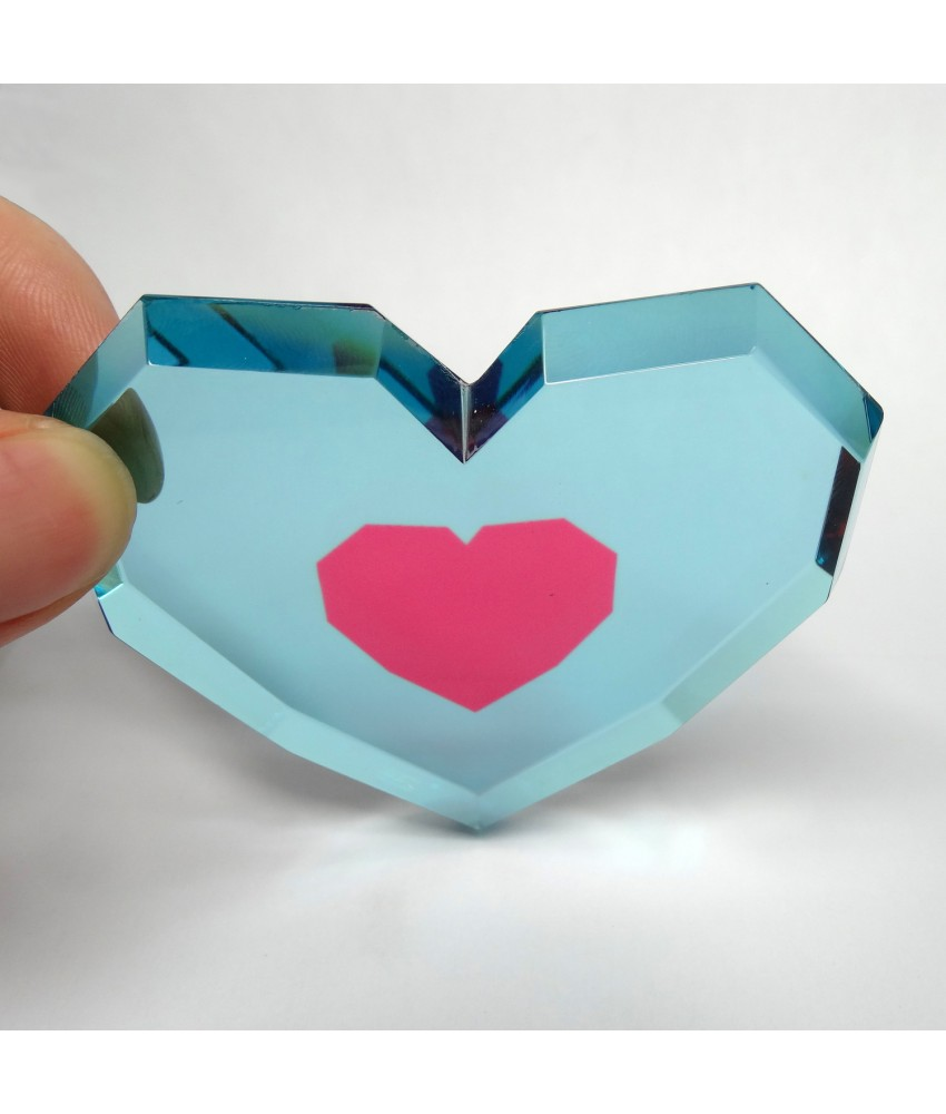 Crystal The Legend of Zelda Piece of Heart from Ocarina of Time and Majora's Mask
