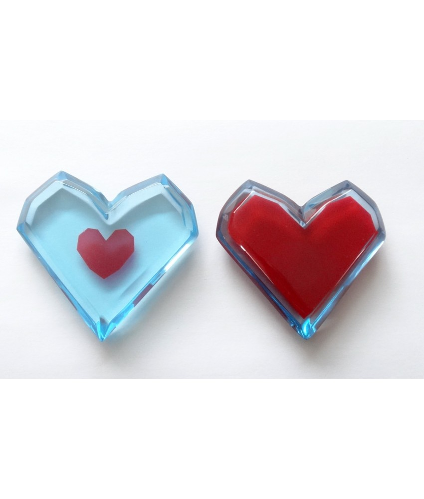 Pair of The Legend of Zelda Piece of Heart and Heart Container